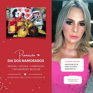 Mechas + Escova + Hidratação + Kit Amoroso