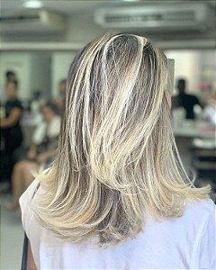 Ombré Hair Cacheada + Reconstrução Beleza Fashion