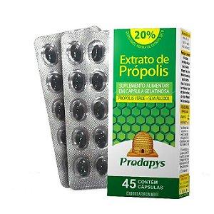 Extrato de Própolis Verde em cápsulas gelatinosas - 45 cápsulas - Prodapys