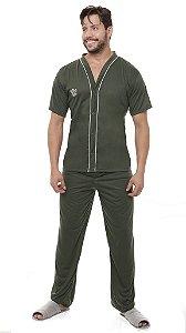 Pijama Aberto Malha - 4130