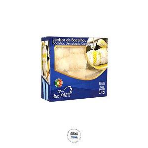 Bacalhau lombo salgado sem pele Gadus Morhua (pc 1kg)
