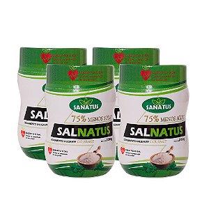 KIT com 04 Salnatus Gourmet 75% Menos Sódio  250g cada