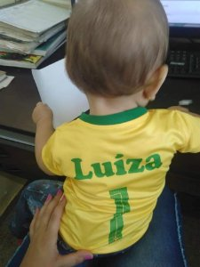 Camiseta  infantil do  Brasil
