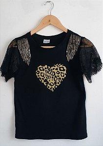 T-shirt Onça renda