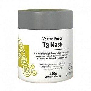 Vector Force T3 Mask Redefinição Cabelos Cacheados 450 g Grandha