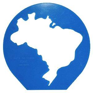 Régua Gabarito de Mapa do Brasil - unitário - Roge