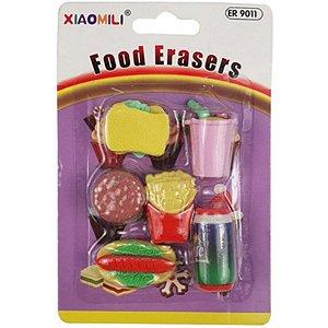 MOSTRUÁRIO - Borracha Fast Food - com 6 unidades - Xiaomili