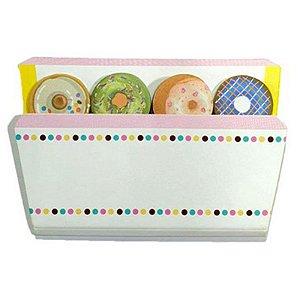 Marcador Adesivo de Donuts - Contém 4 Blocos