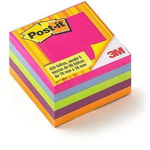 "MOSTRUÁRIO - Bloco Adesivo M ""Post-it"" - 90 folhas - Contém 5 blocos - 3M"