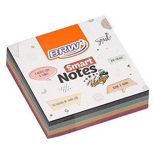 MOSTRUÁRIO - Bloco Adesivo Smart Notes Vintage Cube 200 folhas - unitário - BRW