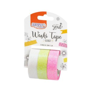 Fita Washi Tape Glossy - c/ 3 unidades - BRW