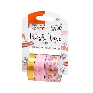 Fita Washi Tape Shine - c/ 3 unidades - BRW