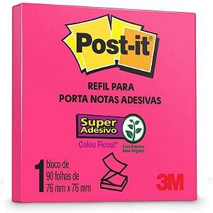 "Bloco Adesivo M ""Post-it"" Rosa - 90 folhas - unitário - 3M"