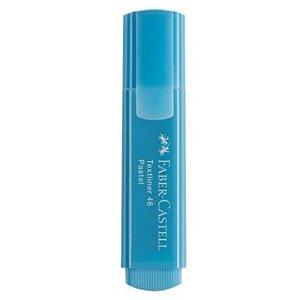 Marca texto Textliner Pastel 46 Azul - unitário - Faber-Castell