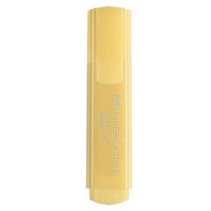 Marca texto Textliner Pastel 46 Amarelo - unitário - Faber-Castell