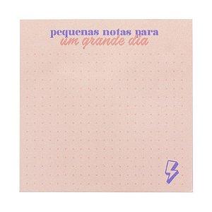 Bloco Adesivo Good Vibes c/ 100 folhas Rosa - unitário - Leonora
