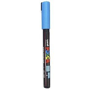Caneta Uni Posca PC-1MR Azul Claro - unitário - Posca