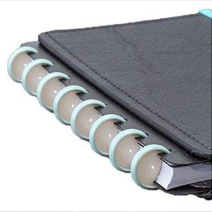 Disco + Elástico Inteligente Médio Azul Pérolado - unitário - Caderno Inteligente