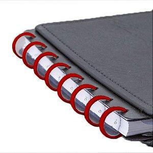 Disco + Elástico Inteligente Médio Vermelho Cereja - unitário - Caderno Inteligente