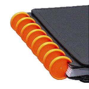 Disco + Elástico Inteligente Médio Laranja Neon - unitário - Caderno Inteligente