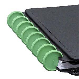 Disco + Elástico Inteligente Grande Verde Amazônico - unitário - Caderno Inteligente