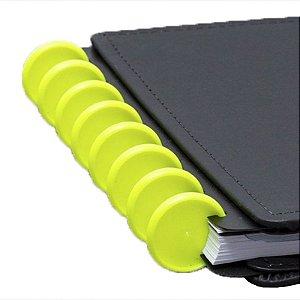 Disco + Elástico Inteligente Grande Amarelo Neon - unitário - Caderno Inteligente