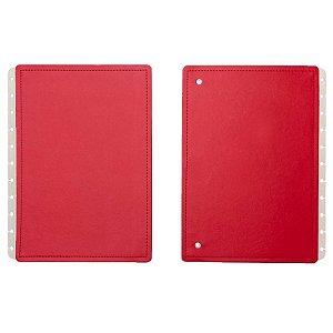 Capa e Contracapa Vermelho Cereja Grande  - unitário - Caderno inteligente