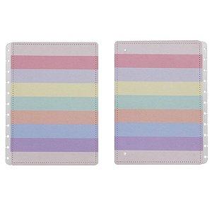 Capa e Contracapa Arco-íris Grande - unitário - Caderno inteligente