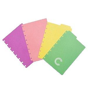 Divisórias Pastel Médio P/ CI - unitário - Caderno Inteligente