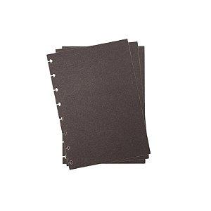Refil p/ CI A5 10 Folhas Preto Liso - unitário - Caderno Inteligente