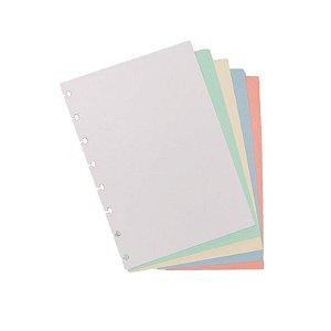 Refil p/ CI A5 50 Folhas Colorido Liso - unitário - Caderno Inteligente