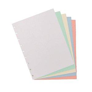 Refil p/ CI Médio 50 Folhas Colorido Liso - unitário - Caderno Inteligente