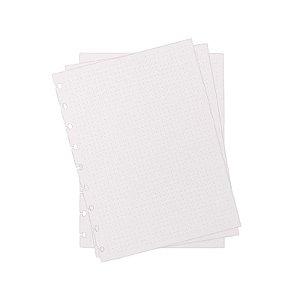 Refil p/ CI Médio 30 Folhas Pontilhado 120g - unitário - Caderno Inteligente