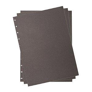Refil p/ CI Grande 10 Folhas Preto Liso - unitário - Caderno Inteligente