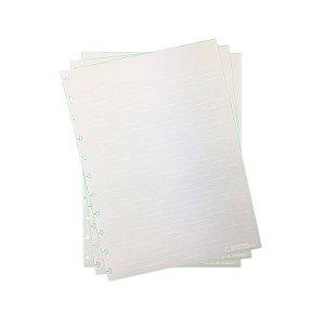 Refil p/ CI Grande 30 Folhas Pautado Linha Branca 120g - unitário - Caderno Inteligente