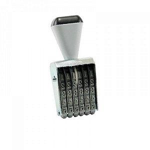 Carimbo Numerador 5mm 6 Fitas - unitário - Carbrink