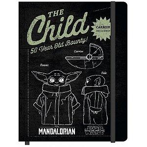 Caderneta G Baby Yoda 80 Folhas  - unitário - Jandaia