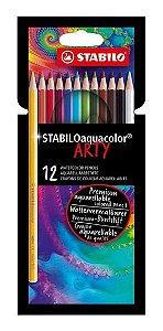 12 Lápis STABILO Aquacolor Arty - unitário - Stabilo