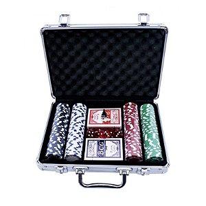 MOSTRUÁRIO - Kit Maleta de Fichas de Poker c/ 200 - unitário - Importado