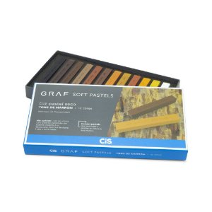 """Giz Pastel Seco """"Graf Soft Pastels"""" 12 Tons de Marrom - unitário - CIS"""