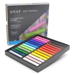 "Giz Pastel Seco ""Graf Soft Pastels"" 24 Cores - unitário - CIS"