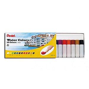 Aquarela Water Color 12 Cores 6mL - unitário - Pentel
