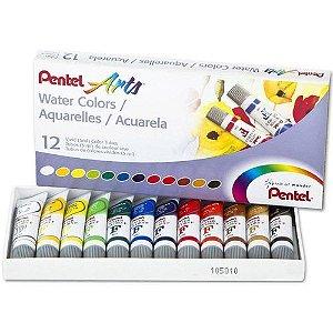 Aquarela Water Colours Arts 12 Cores 5mL - unitário - Pentel