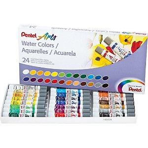 Aquarela Water Colours Arts 24 Cores 5mL - unitário - Pentel