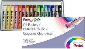 Giz Pastel Oleoso 16 Cores - unitário - Pentel