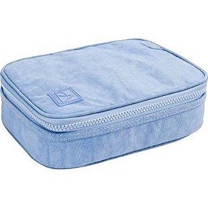 Estojo Box Académie Azul Claro - unitário - Tilibra