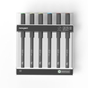 "Brush Pen Ginza Nano ""Wild Forest"" - Kit com 6 unidades - Newpen"