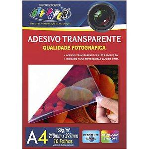 Adesivo Transparente A4 10 Folhas 150g - unitário - Off Paper