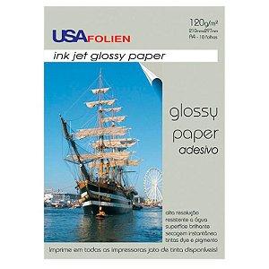 Glossy Paper Adesivo A4 c/ 10 Folhas 120g - unitário - USA Folien