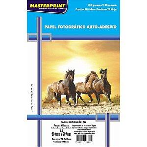 Papel Fotográfico Glossy A4 20 Folhas 130g - unitário - Masterprint